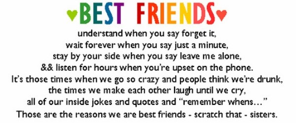 Best Friend Quotes 7 600x250 Funny Things To Say To Your Best Friend